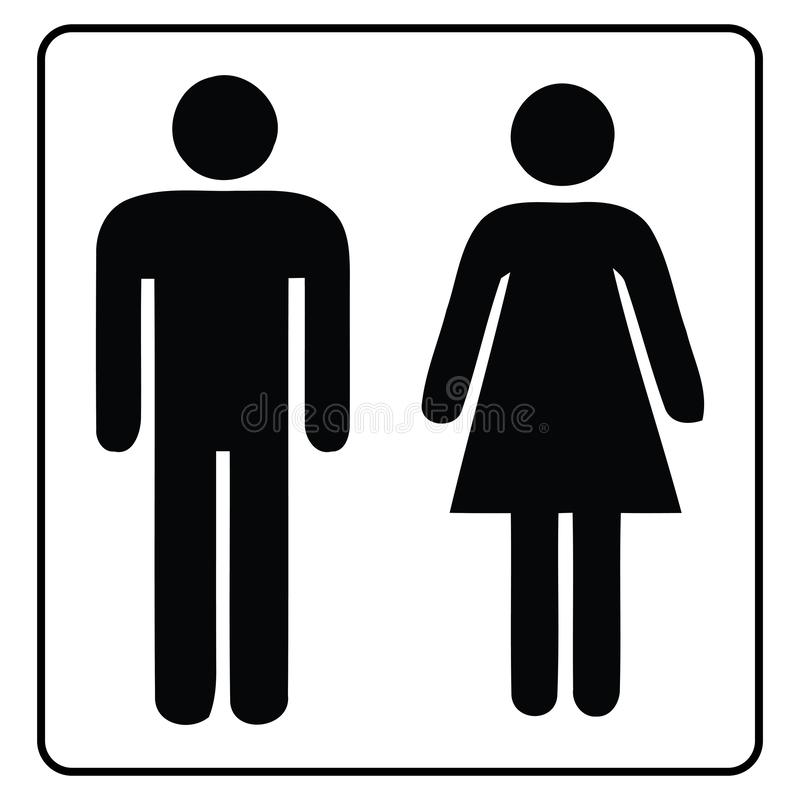 Segno-maschio e femmina della toilette royalty illustrazione gratis