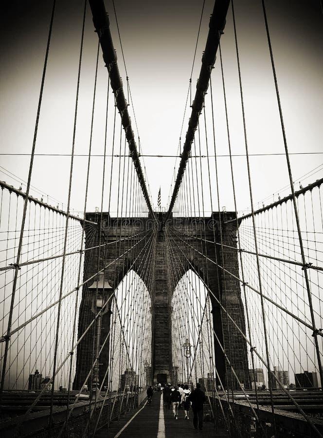 Segno, mattoni, vicino al ponte di Brooklyn immagine stock libera da diritti