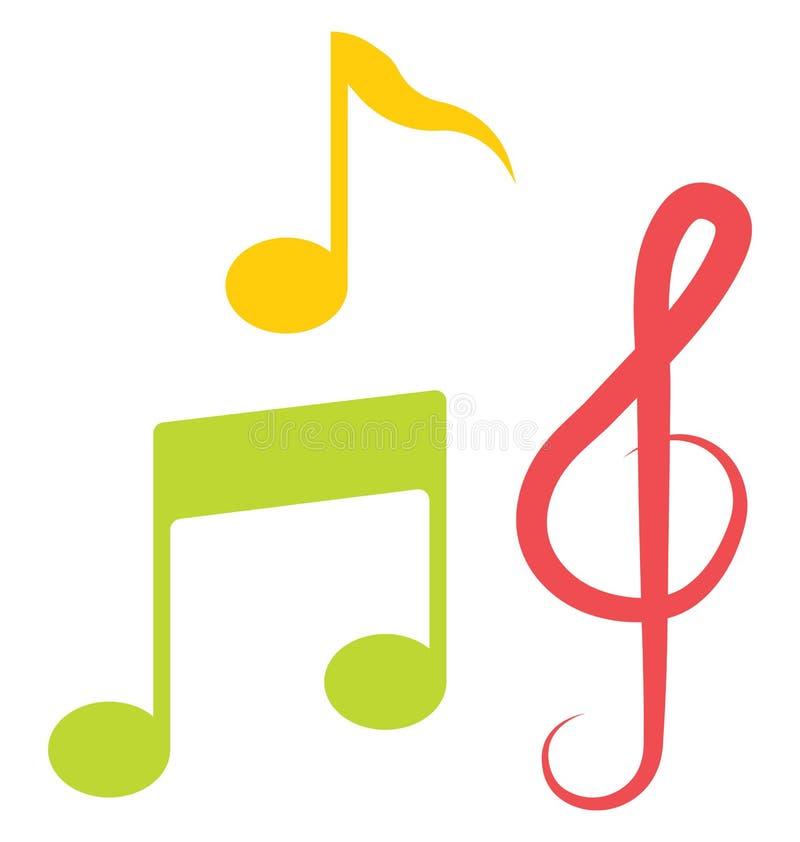 segno musicale, icona di vettore della nota musicale che può essere modificata o pubblicare facilmente royalty illustrazione gratis