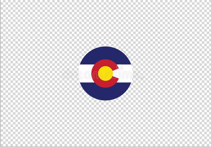 Segno nazionale di simbolo di stato della bandiera di Colorado royalty illustrazione gratis