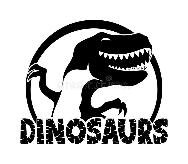 Segno nero dei dinosauri illustrazione di stock