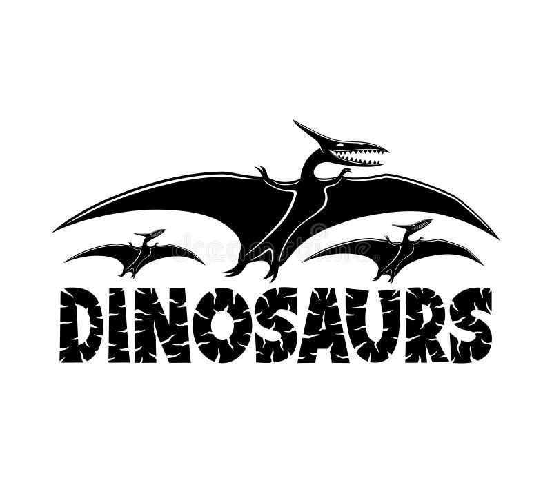 Segno nero dei dinosauri royalty illustrazione gratis