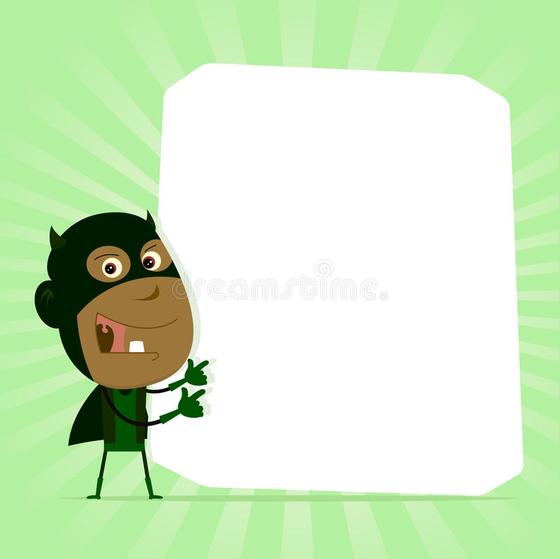 Segno nero dell'eroe eccellente del bambino illustrazione di stock