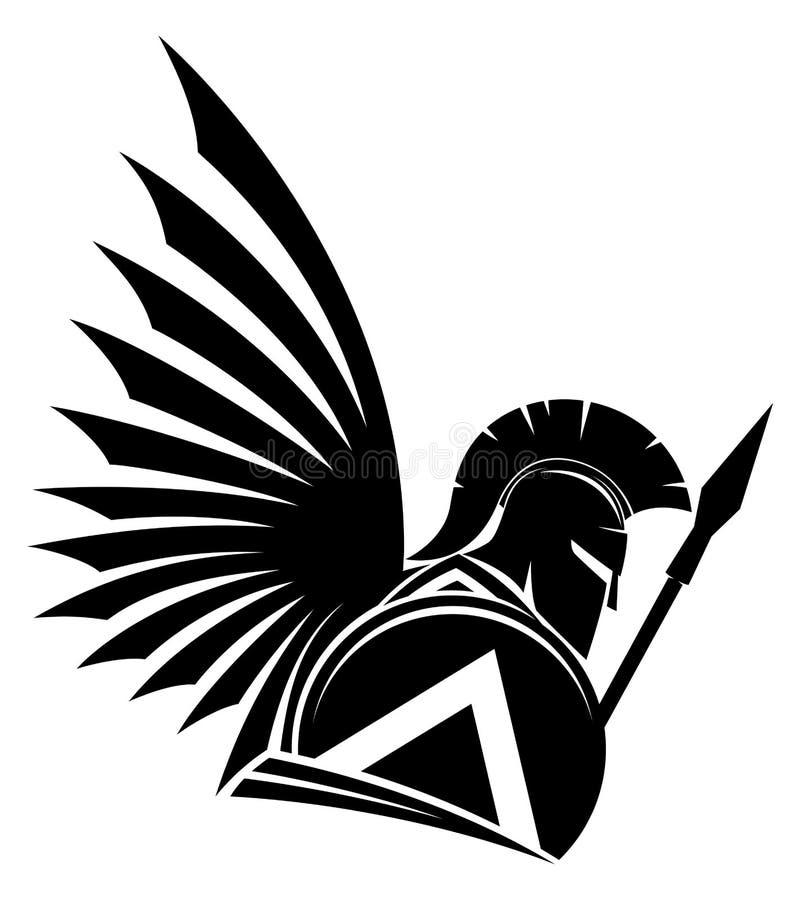 Segno nero di spartano illustrazione di stock