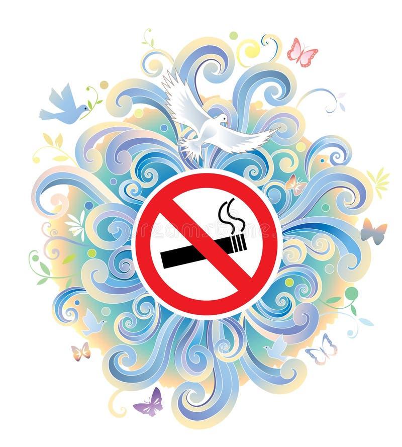 Segno non fumatori illustrazione vettoriale
