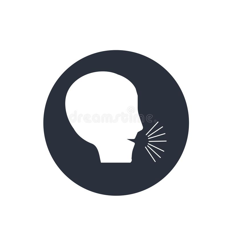 Segno non sano e simbolo di vettore dell'icona di condizione medica isolati su fondo bianco, concetto non sano di logo di condizi illustrazione di stock
