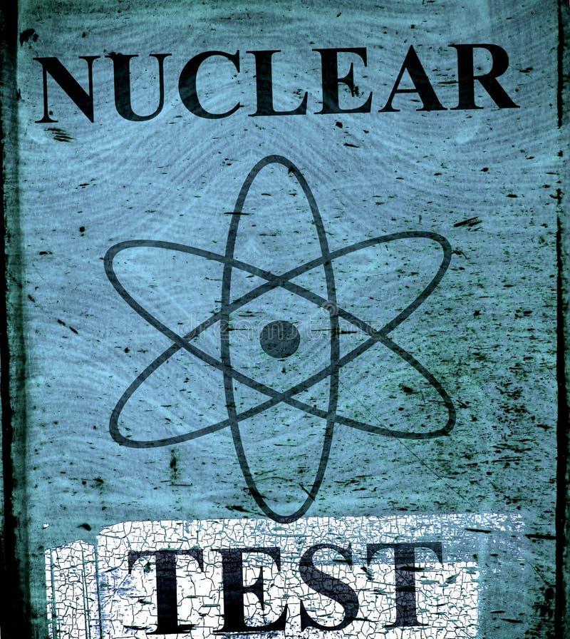 Segno nucleare del teast di Grunge fotografie stock libere da diritti