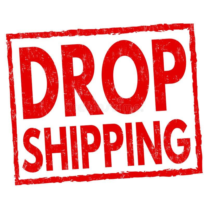 Segno o bollo del drop shipping illustrazione vettoriale