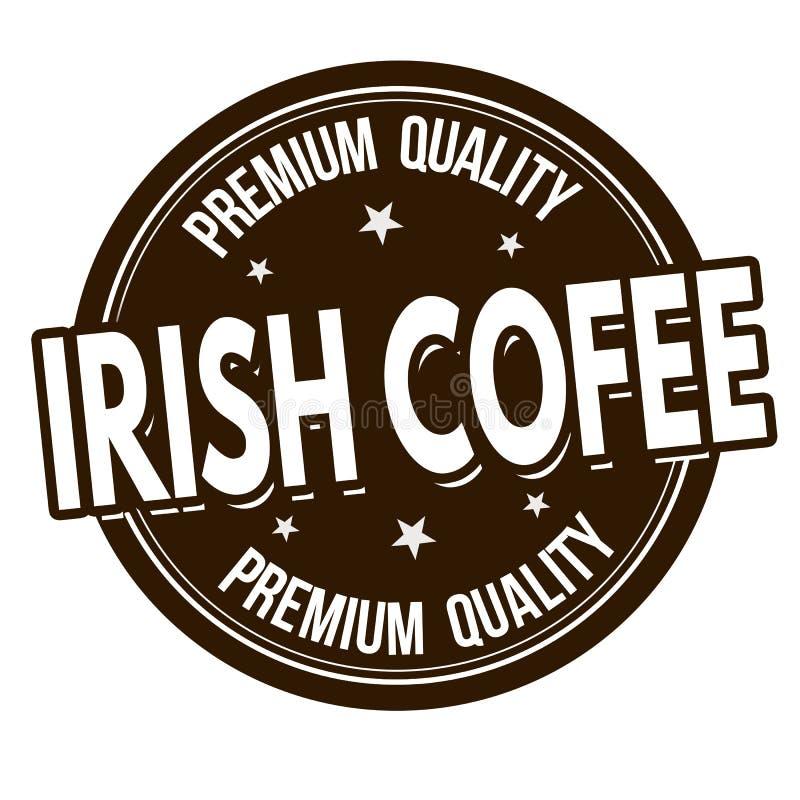 Segno o bollo dell'irish coffee illustrazione di stock
