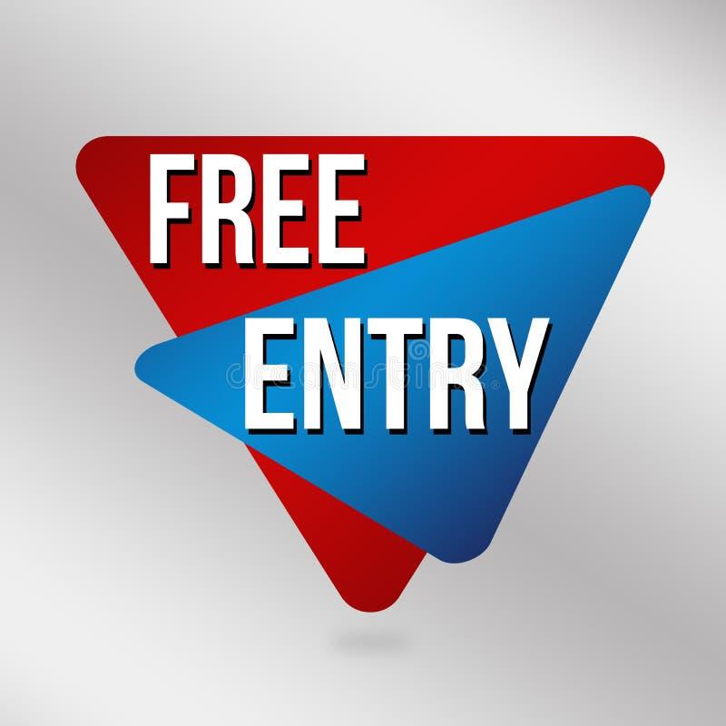 Segno o etichetta libero dell'entrata per la promozione di affari royalty illustrazione gratis