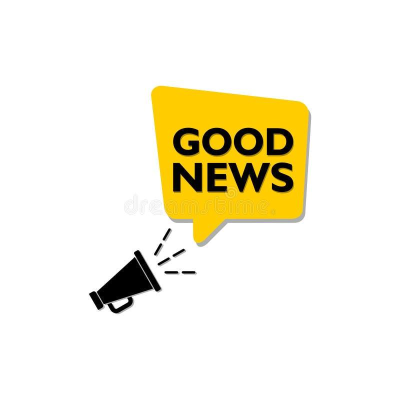 Segno o logo di buone notizie illustrazione di stock
