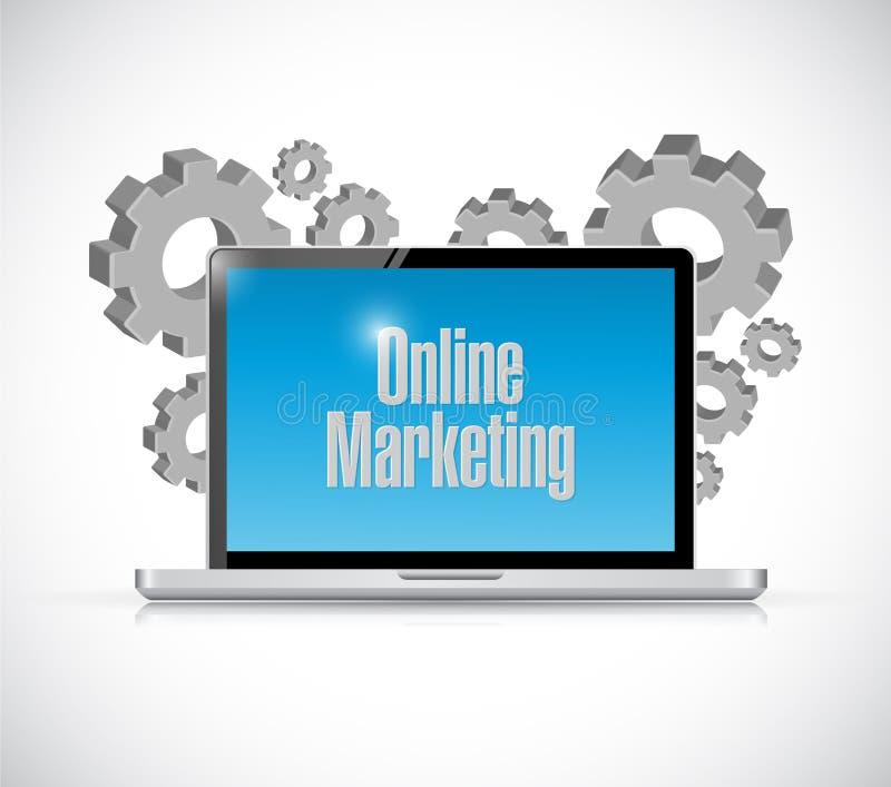 segno online di tecnologia di vendita illustrazione di stock