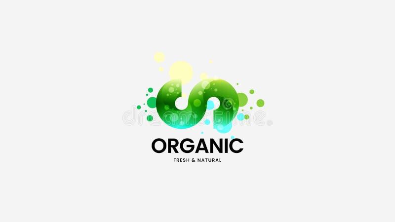 Segno organico astratto di logo di vettore per l'identità corporativa Illustrazione dell'emblema del Logotype Disposizione di pro illustrazione vettoriale