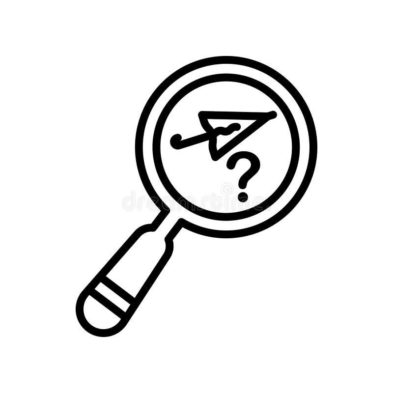 Segno perso e simbolo di vettore dell'icona degli oggetti isolati sul backgro bianco illustrazione vettoriale