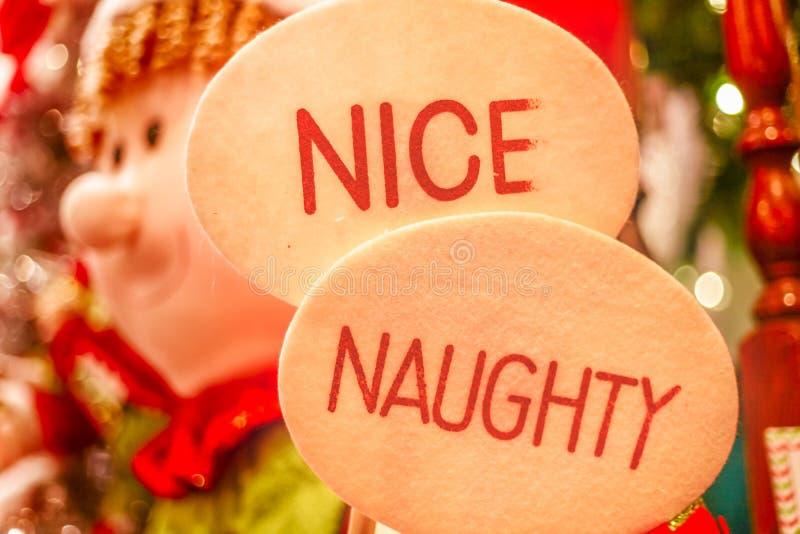 Segno piacevole ed impertinente al Natale fotografia stock