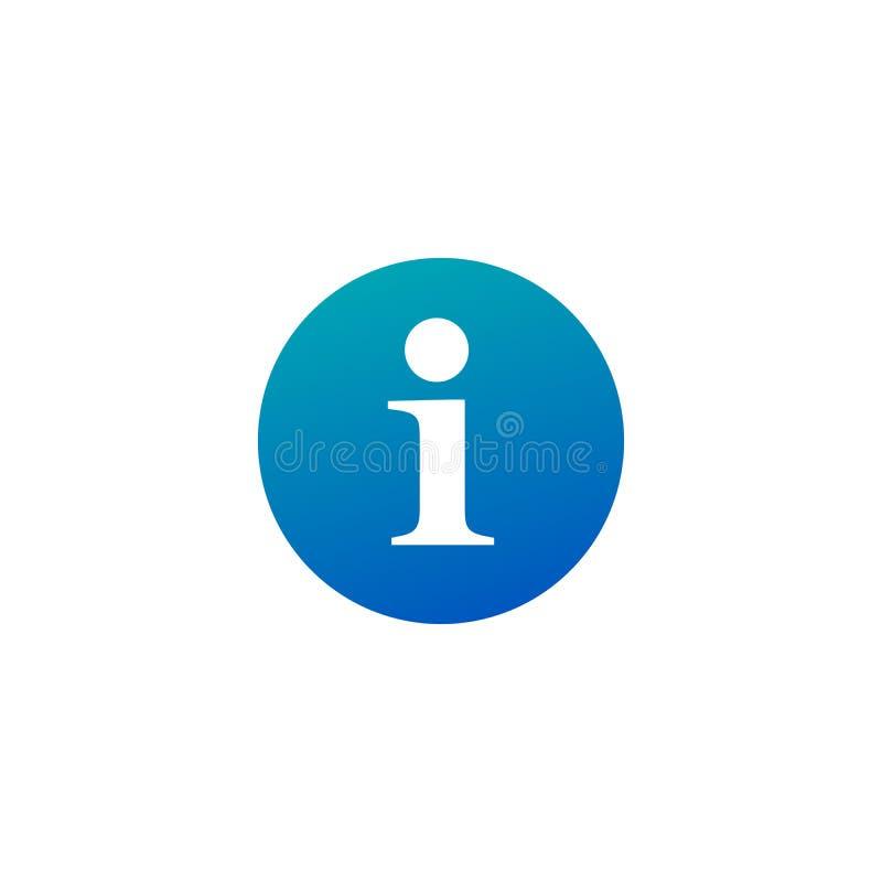 Segno piano del bottone di informazioni dell'icona di informazioni, simbolo, autoadesivo Per l'interfaccia utente mobile Illustra royalty illustrazione gratis