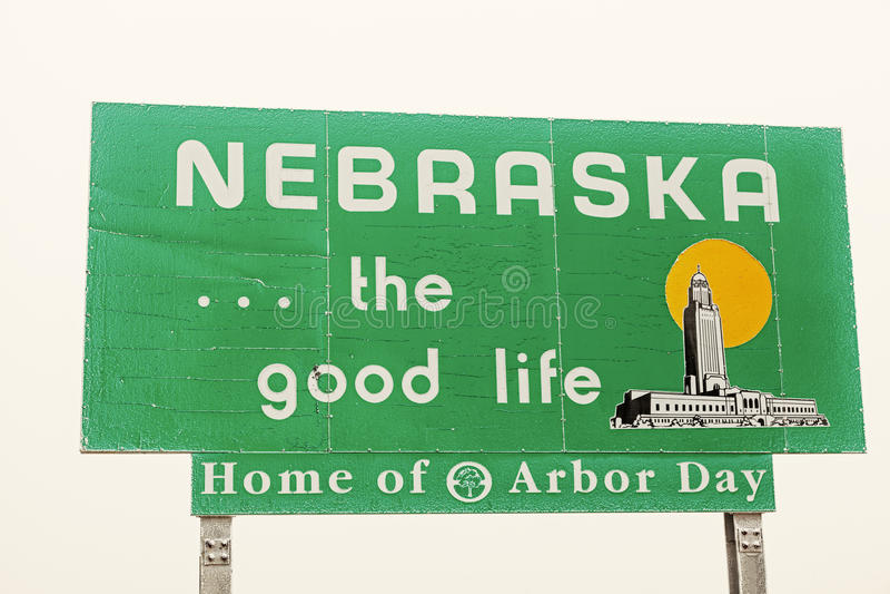 Segno positivo del Nebraska fotografie stock libere da diritti