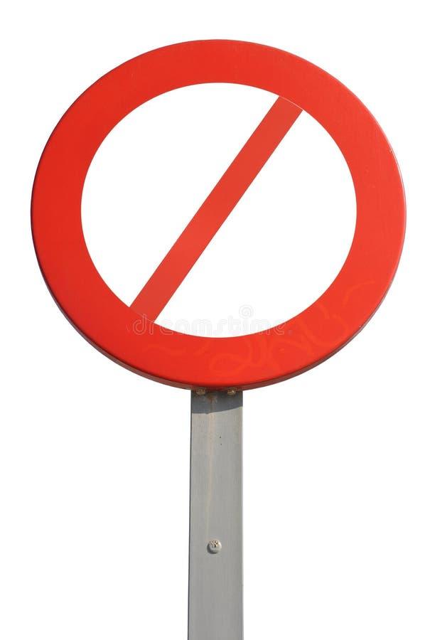 Segno proibito fotografie stock libere da diritti