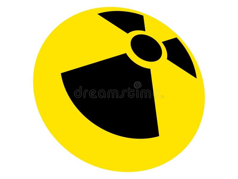 Segno radioattivo fotografia stock