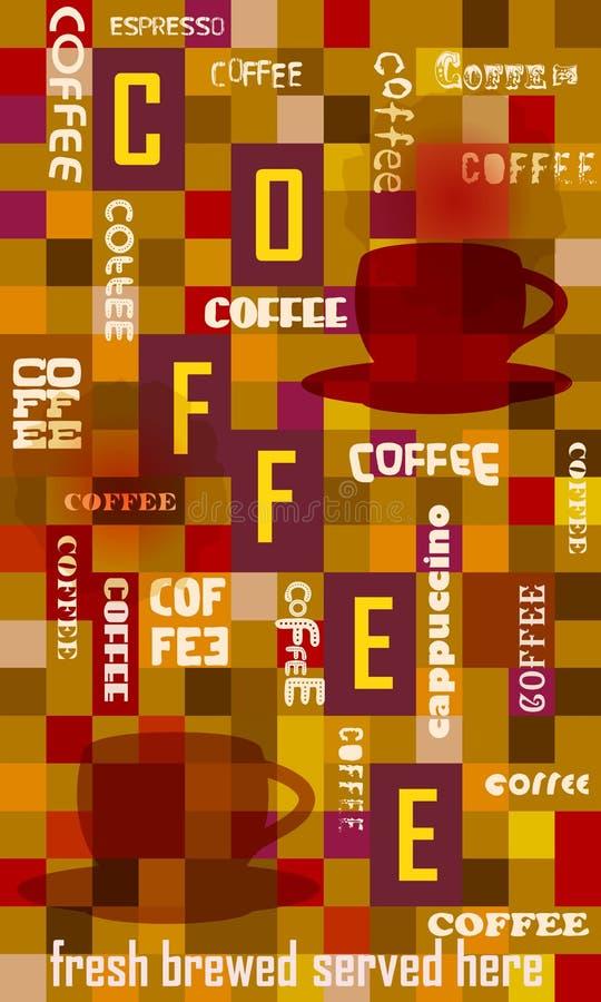 Retro segno del caffè, illustrazione vettoriale