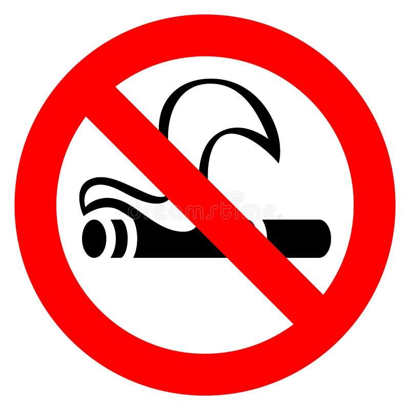 Segno rosso non fumatori illustrazione vettoriale