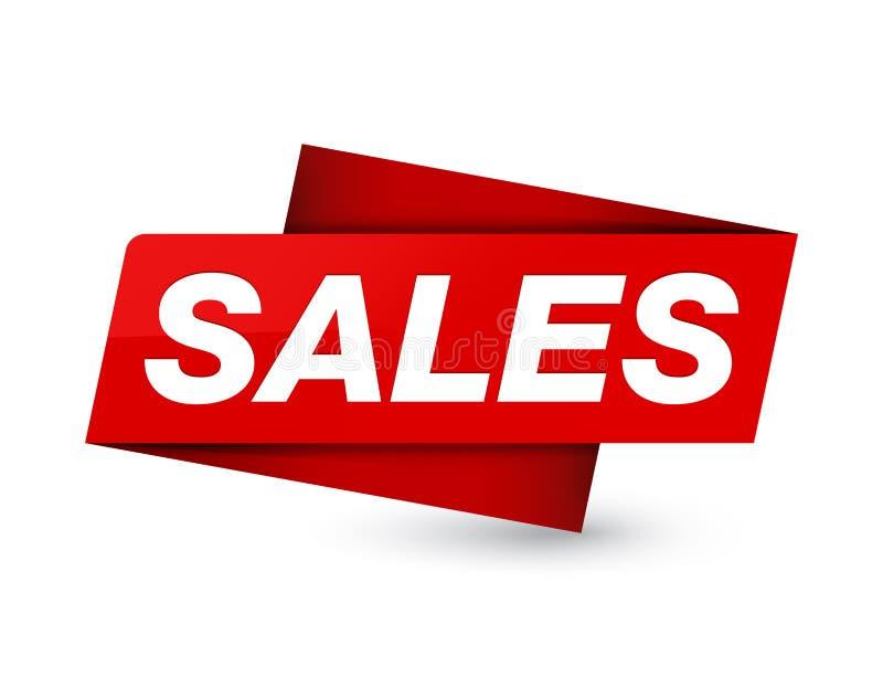 Segno rosso premio dell'etichetta di vendite illustrazione di stock