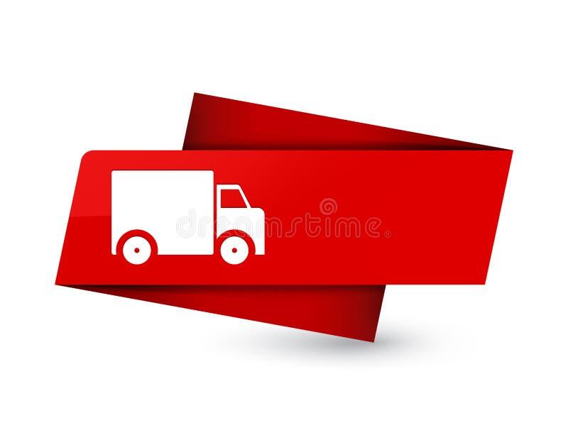 Segno rosso premio dell'etichetta dell'icona del camion di consegna royalty illustrazione gratis