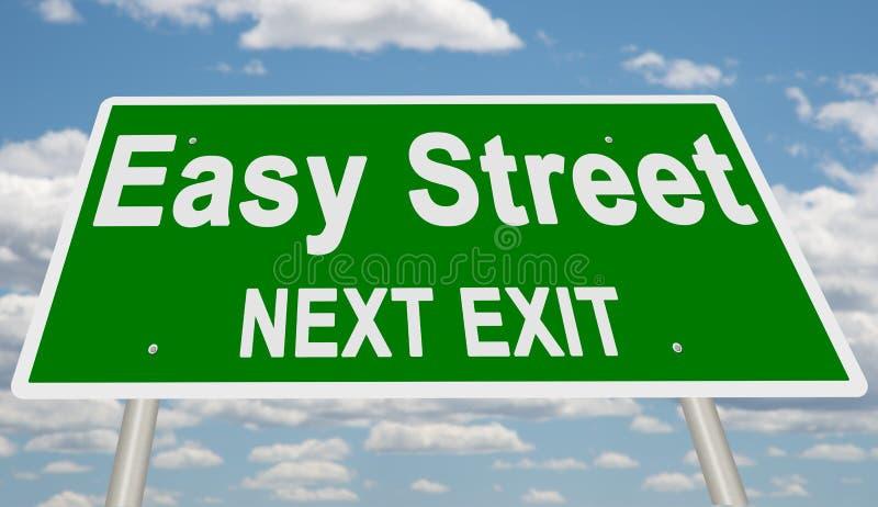 Segno seguente verde dell'uscita della via facile illustrazione di stock