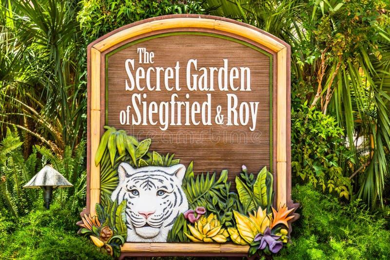 Segno a Siegfried ed a Roy Secret Garden fotografia stock