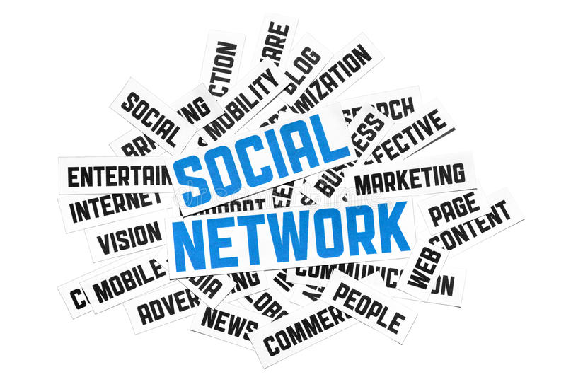 Segno sociale della rete illustrazione di stock