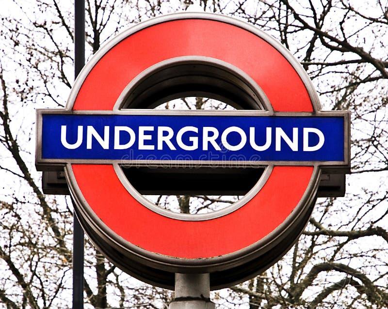 Segno sotterraneo di Londra immagine stock
