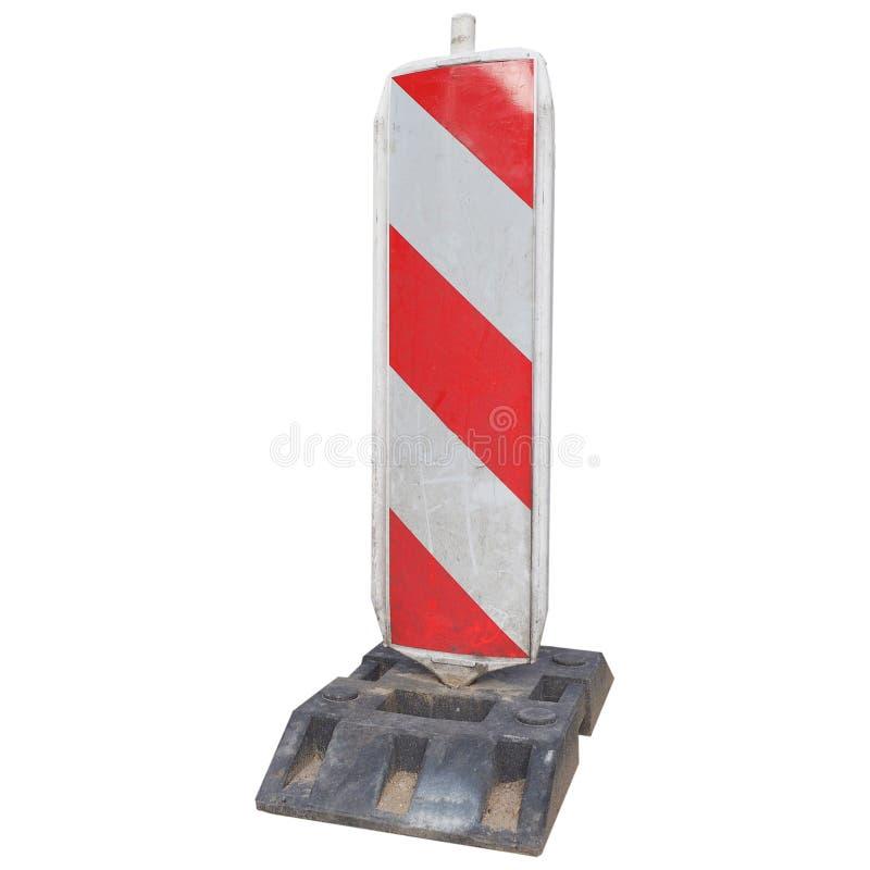 segno a strisce bianco rosso isolato su bianco fotografia stock libera da diritti