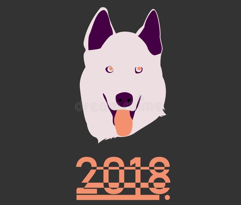 Segno sveglio dello zodiaco di anno civile del cane fotografia stock libera da diritti