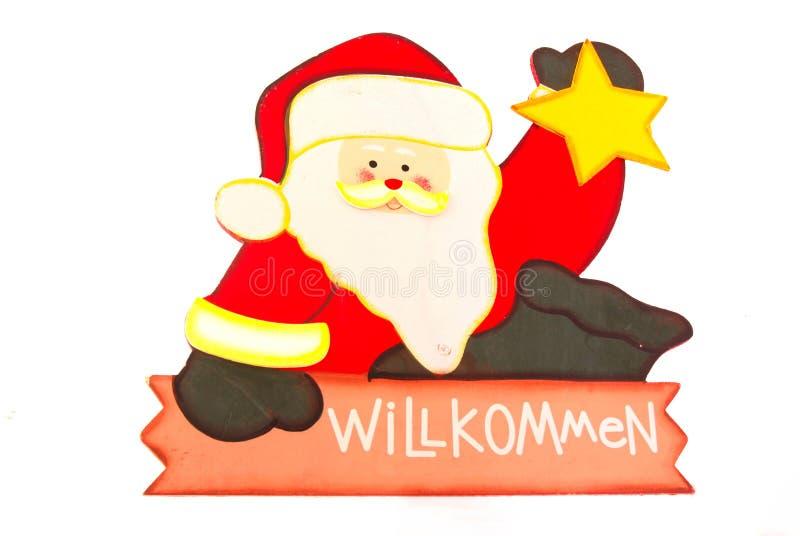Segno tedesco del Babbo Natale fotografia stock libera da diritti