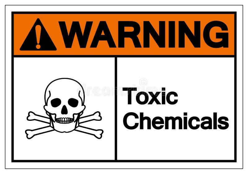 Segno tossico d'avvertimento di simbolo di prodotti chimici, illustrazione di vettore, isolato sull'etichetta bianca del fondo EP royalty illustrazione gratis