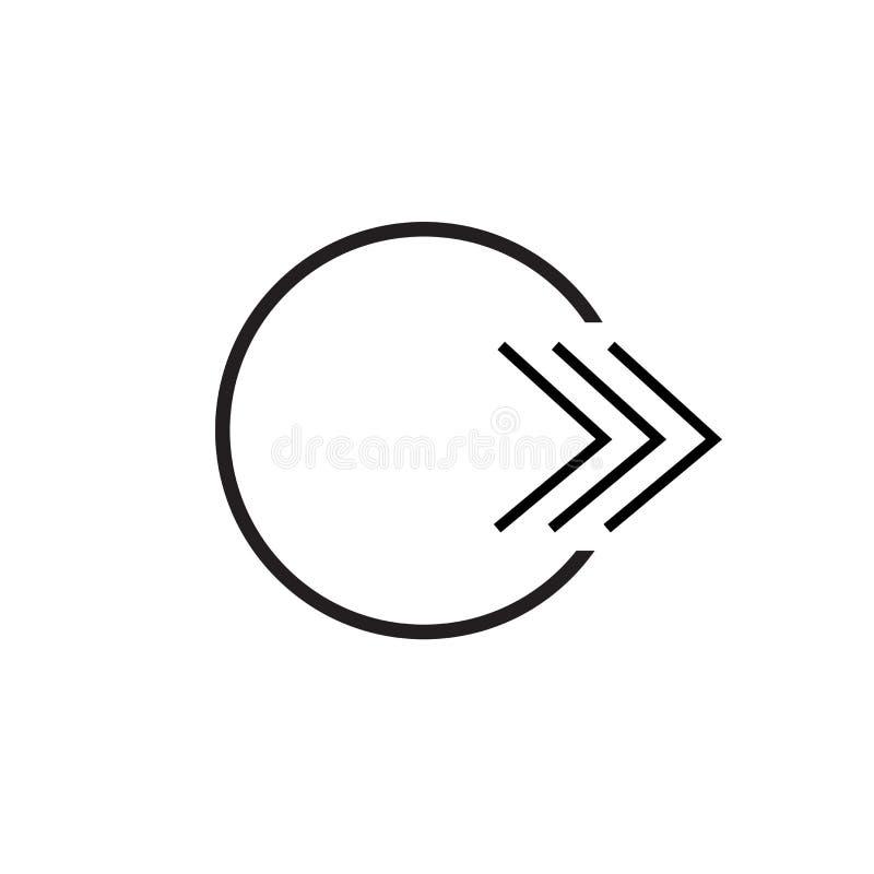 Segno veloce e simbolo di andata di vettore dell'icona isolati su fondo bianco, concetto di andata veloce di logo royalty illustrazione gratis