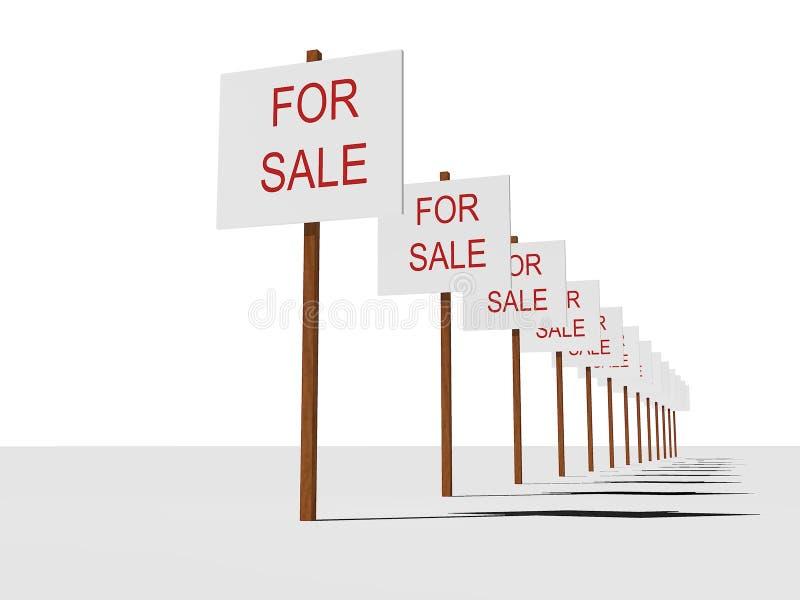 Segno venduto illustrazione vettoriale