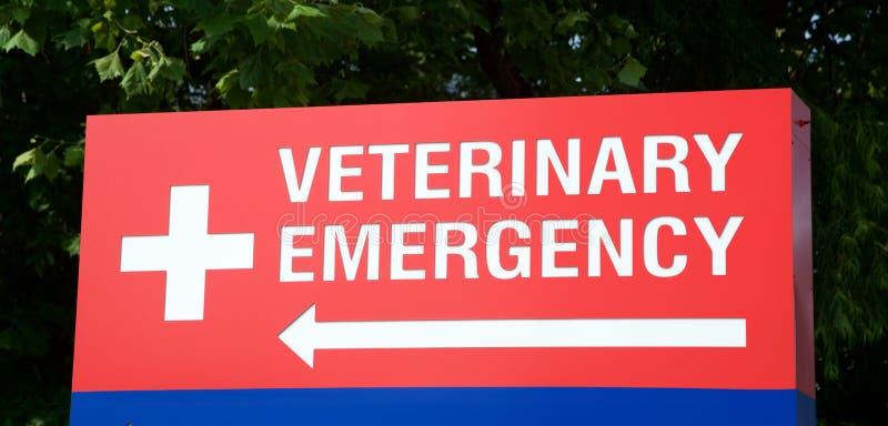 Segno veterinario del pronto soccorso immagine stock libera da diritti