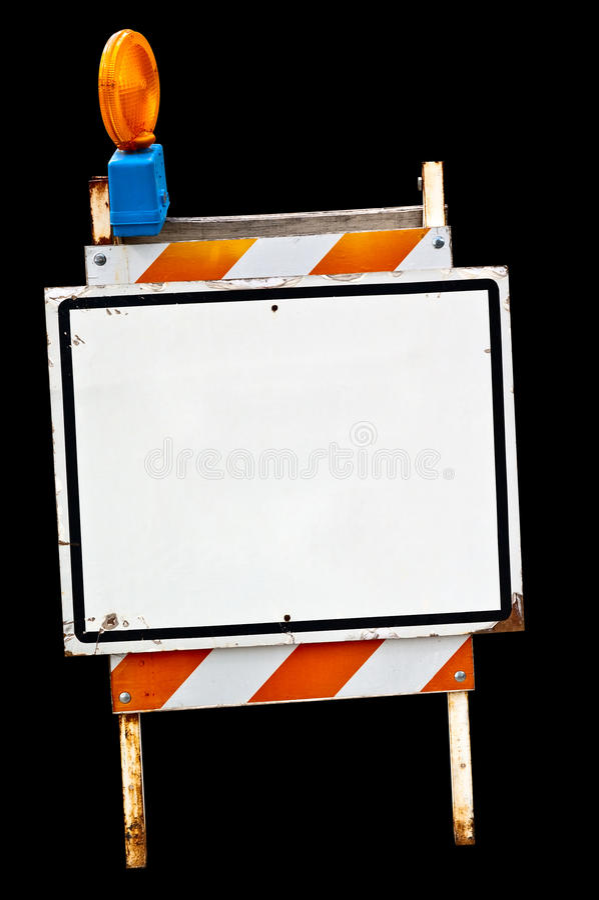 Segno vuoto del marciapiede fotografia stock libera da diritti