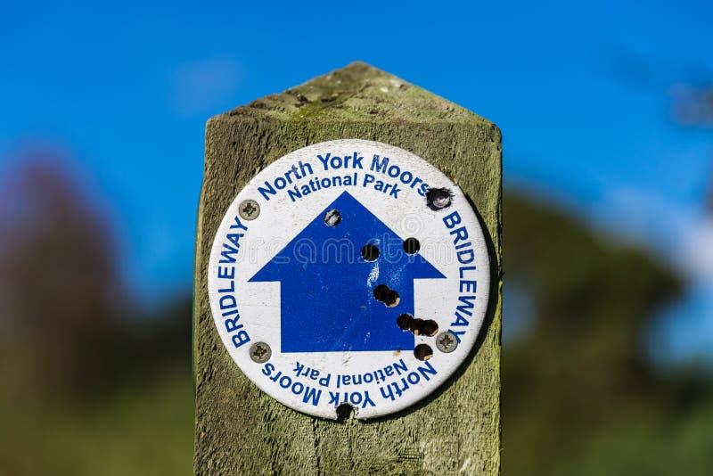 Segno: York del nord attracca, Bridleway immagine stock libera da diritti