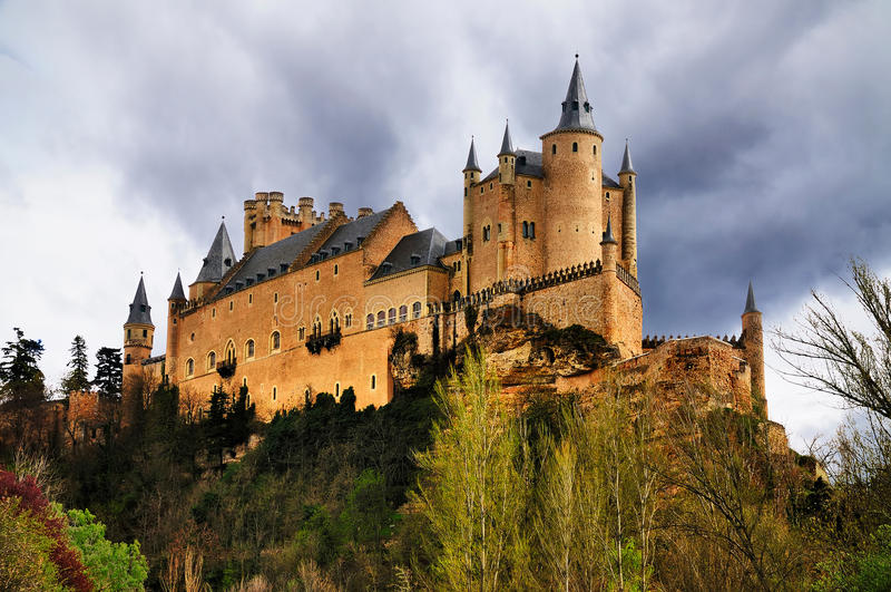 Segovia,西班牙城堡  免版税库存照片