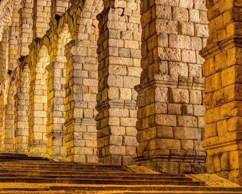 Segovia,西班牙渡槽  库存图片
