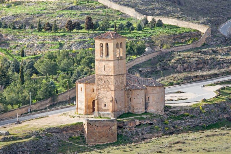 Segovia - η romanesque εκκλησία Iglesia de Λα Βέρα Cruz στοκ εικόνες με δικαίωμα ελεύθερης χρήσης