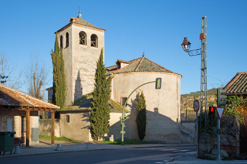 Segovia - η romanesque εκκλησία Iglesia de SAN Marco στοκ εικόνες με δικαίωμα ελεύθερης χρήσης