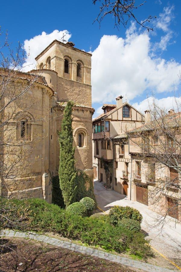 Segovia - η romanesque εκκλησία Iglesia de San Nicolas στοκ φωτογραφίες με δικαίωμα ελεύθερης χρήσης