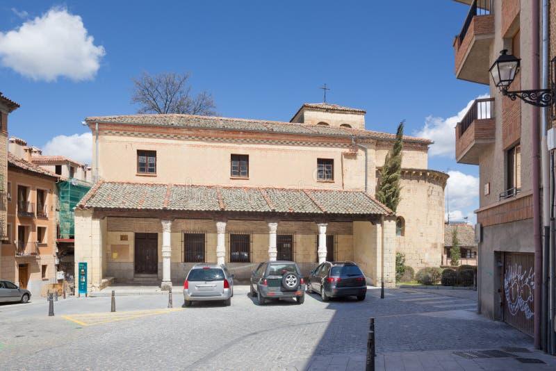 Segovia - η romanesque εκκλησία Iglesia de San Nicolas στοκ φωτογραφία