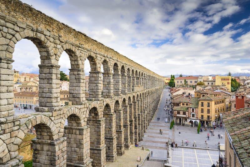 Segovia, Ισπανία υδραγωγείο στοκ εικόνες