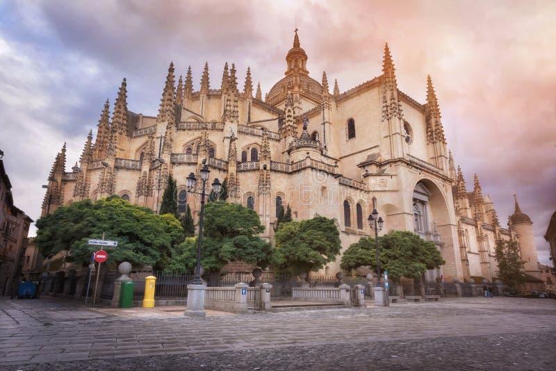 Segovia καθεδρικός ναός, Καστίλλη Υ Leon, Ισπανία στοκ εικόνες