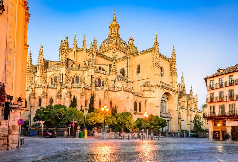 Segovia, Καστίλλη Υ Leon, Ισπανία - καθεδρικός ναός στοκ φωτογραφία