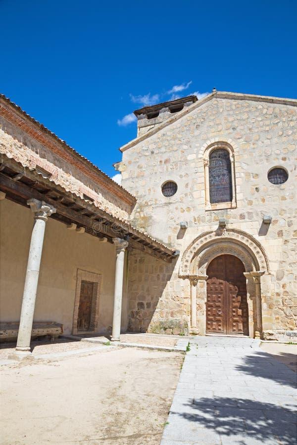 Segovia - ο Romanesque πάστορας justo Υ εκκλησιών Iglesia de Los Santos στοκ εικόνες